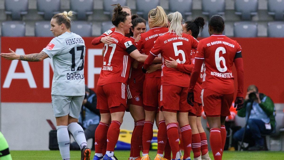 Jubel bei den Bayernfrauen