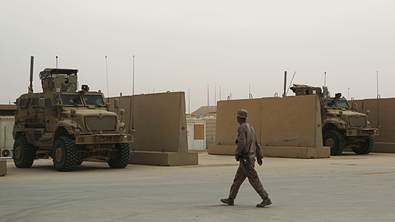 Archiv: US-Soldaten sind auf dem Luftwaffenstützpunkt Al-Asad im Irak
