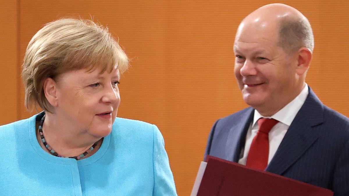 Kanzlerin Angela Merkel und Finanzminister Olaf Scholz.
