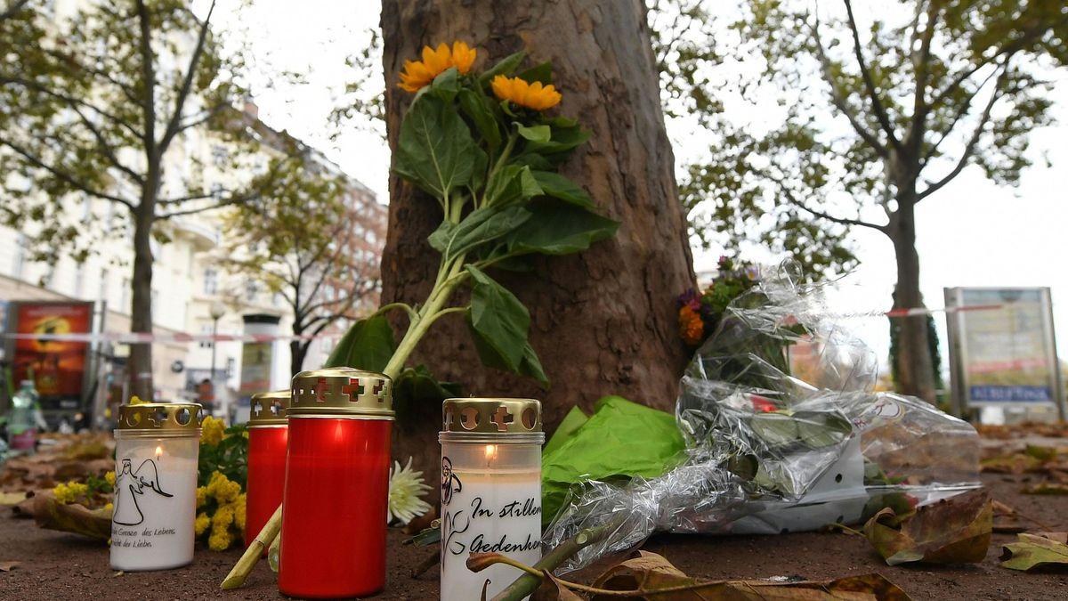 Blumen und Kerzen für die Opfer des Terroranschlags in Wien