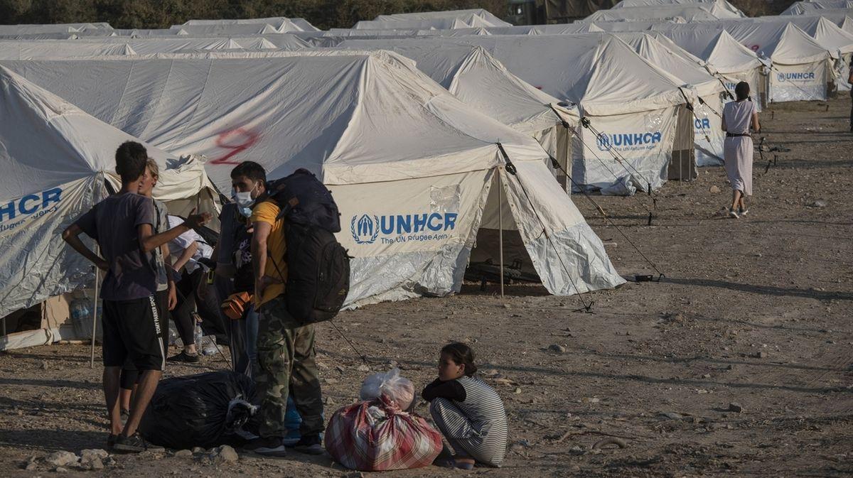 Nach Brand im Flüchtlingslager Moria