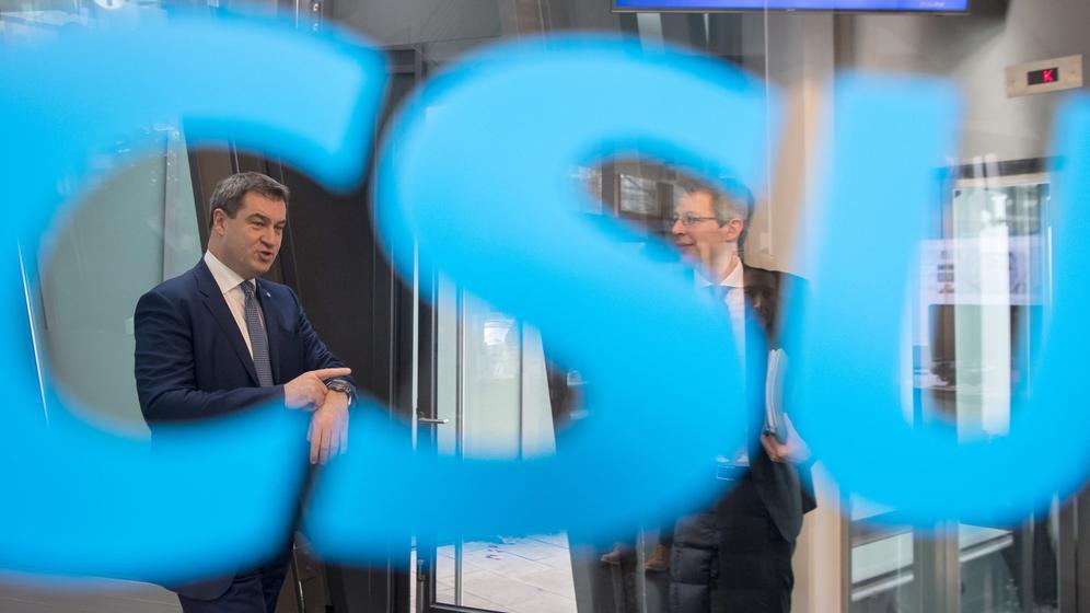 Sitzung des CSU-Vorstands mit Söder | Bild:pa/Dpa/Peter Kneffel