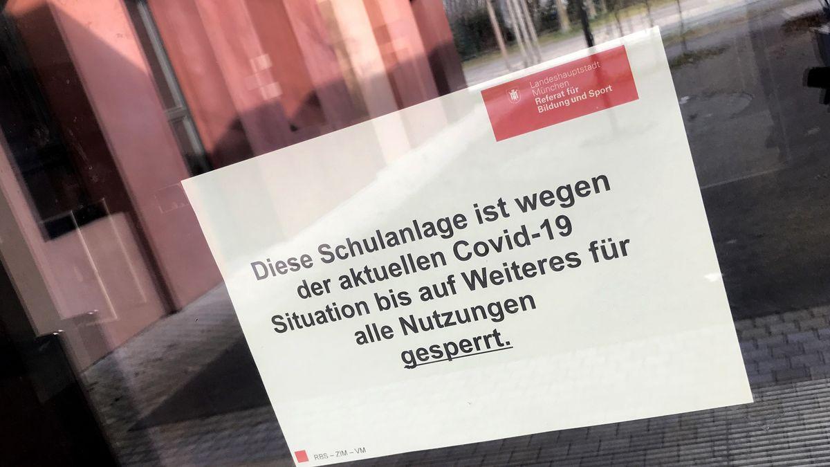 Wegen der Corona-Pandemie geschlossene Kita in München-Riem, aufgenommen am 16. März 2020.