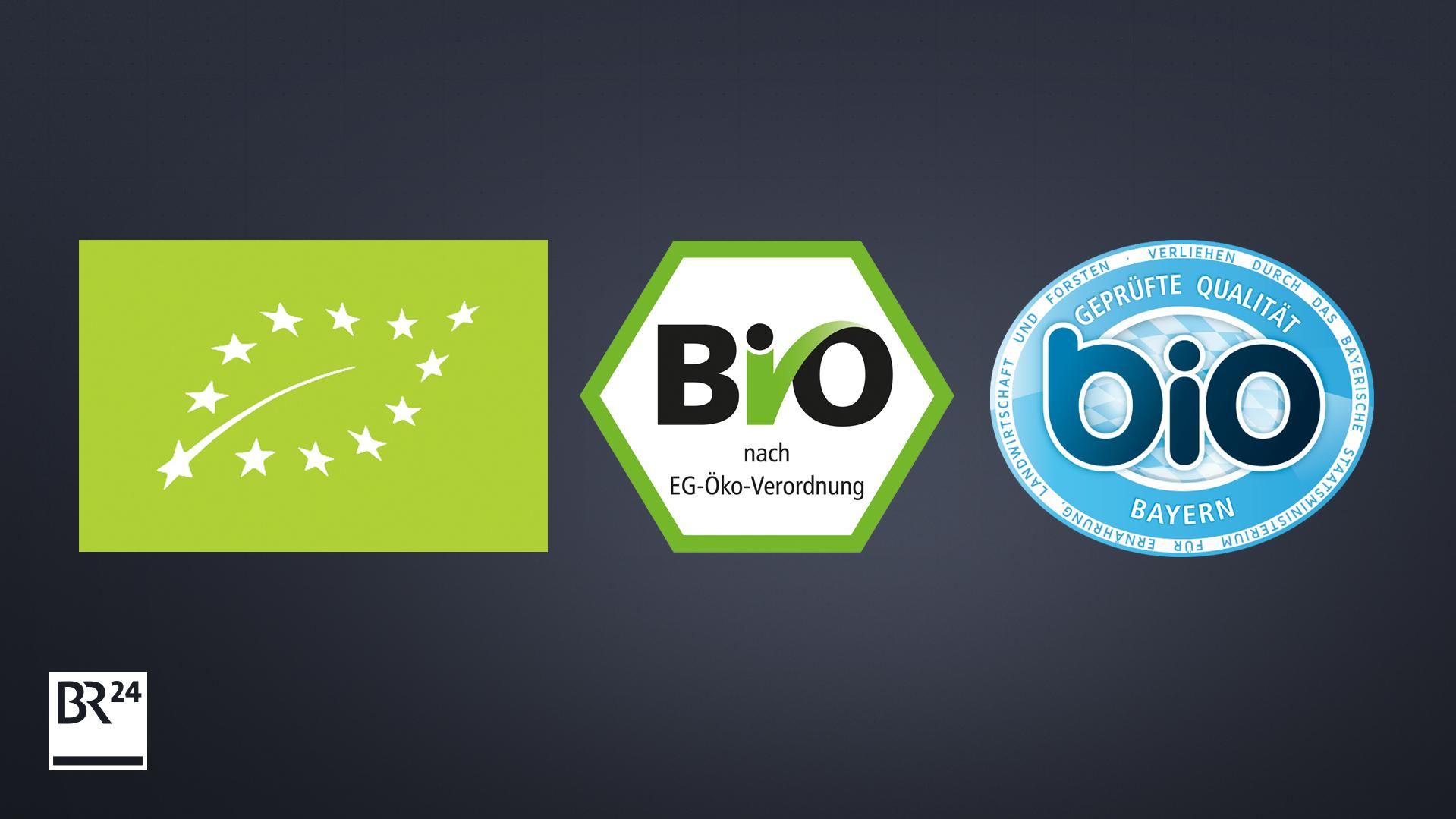Das Bio-Siegel der Europäischen Union, das deutsche staatliche Bio-Siegel und das Bayerische Bio-Siegel