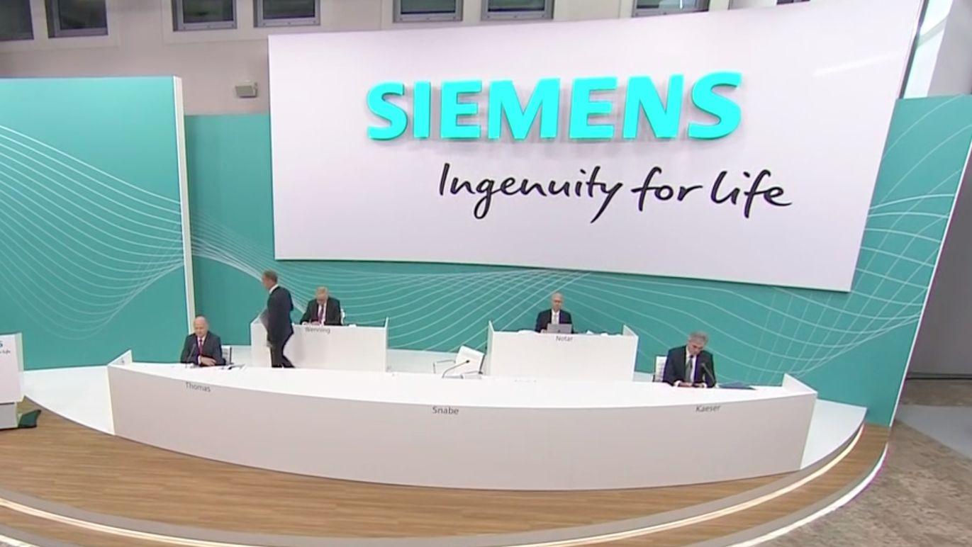 Siemens-Vorstände auf der Hauptversammlung