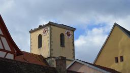 Abgerissene Kirchturmspitze   Bild:BR-Studio Mainfranken/Sascha Hack