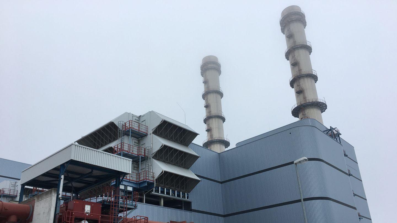 Block V des Kraftwerks Irsching in Vohburg
