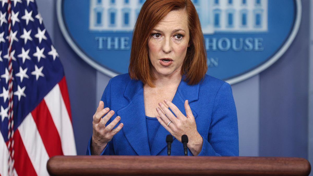 US-Regierungssprecherin Jen Psaki im Weißen Haus