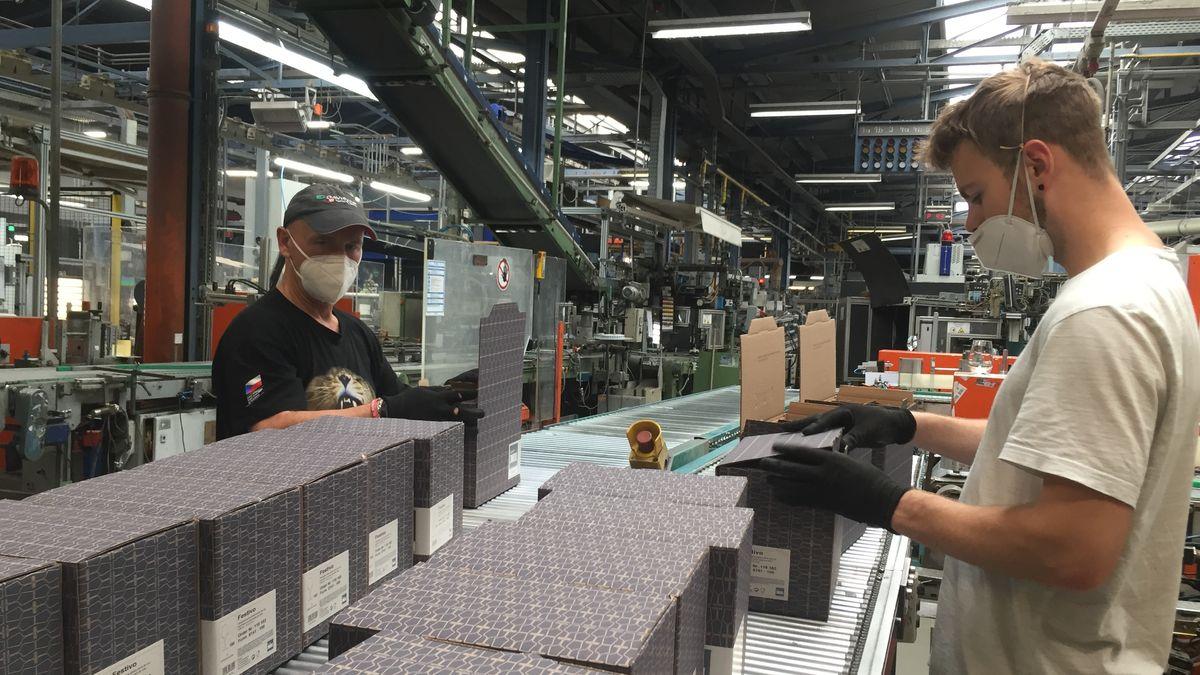 In der Zwieseler Kristallglas-Fabrik
