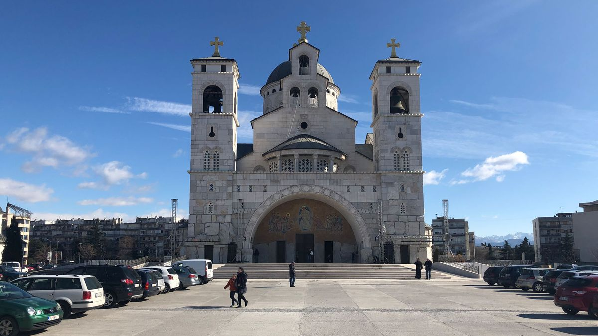 Eine Kirche in Podgorica.