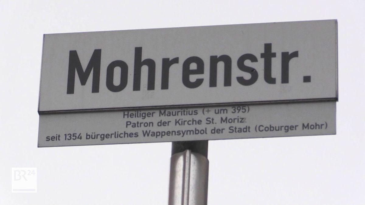 Ein Straßenschild in Coburg mit der Aufschrift Mohrenstraße.