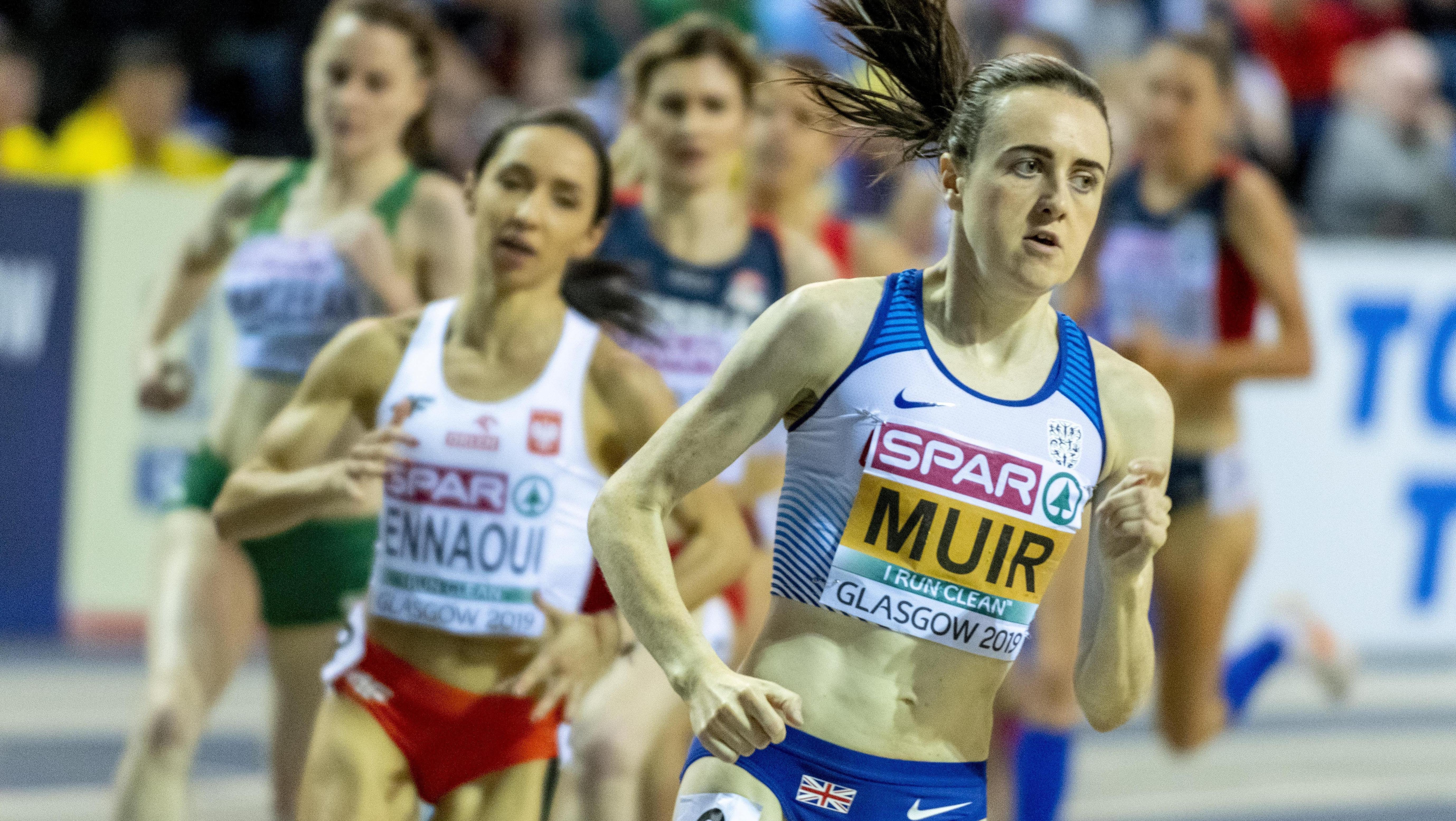 Wettlauf der Frauen bei den European Athletics Indoor Championships in Glasgow