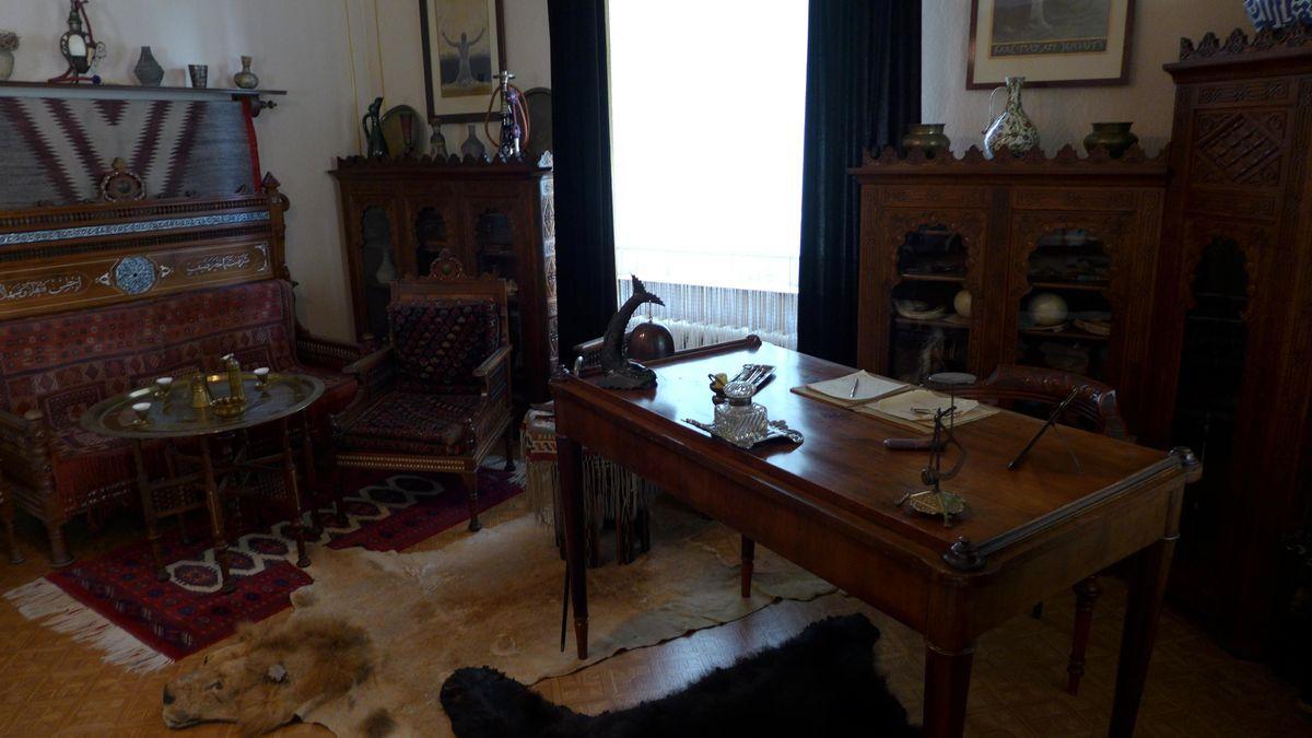 Karl Mays Arbeitszimmer im Kal-May-Museum in Radebeul
