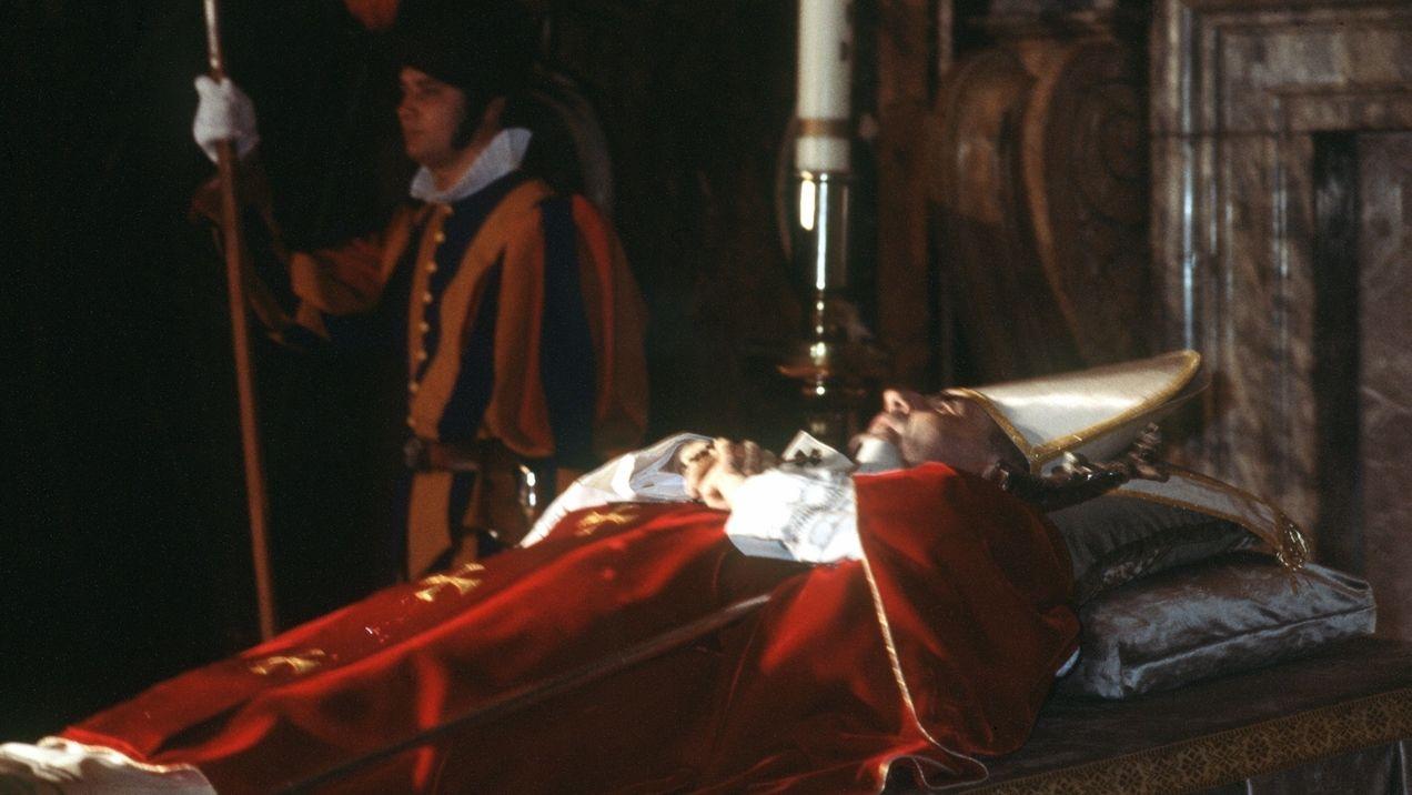 Der im Petersdom aufgebahrte Leichnam von Papst Johannes Paul I. am 28.9.1978.