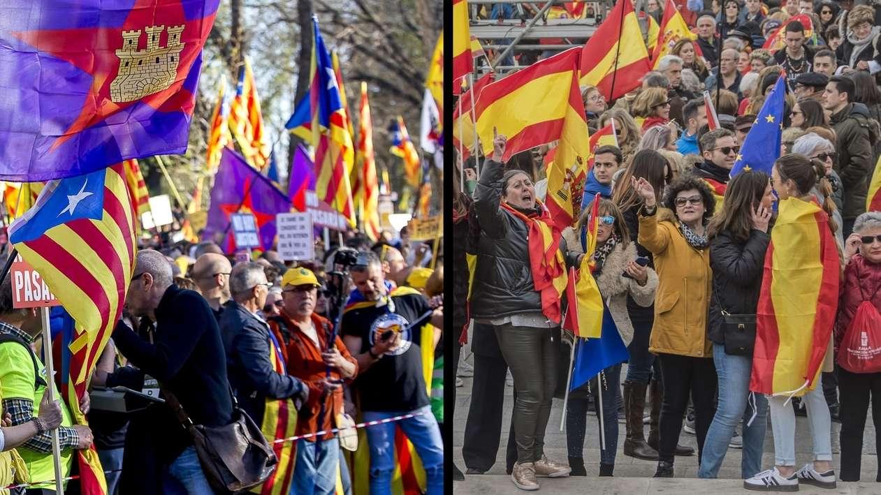 Demonstrationen in Katalonien und Madrid