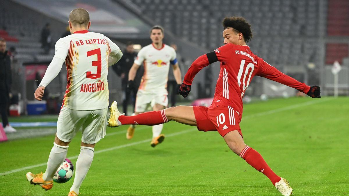 Spielszene FC Bayern München - RB Leipzig