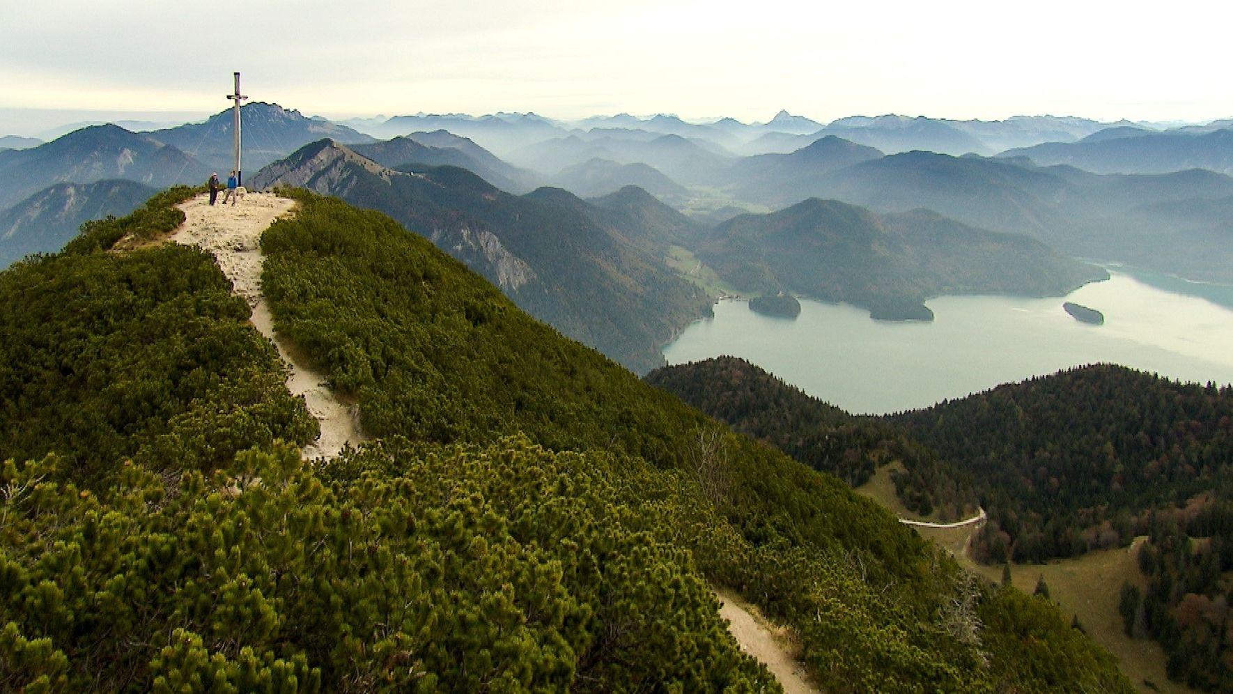 Die Berge zwischen Kochel- und Walchensee