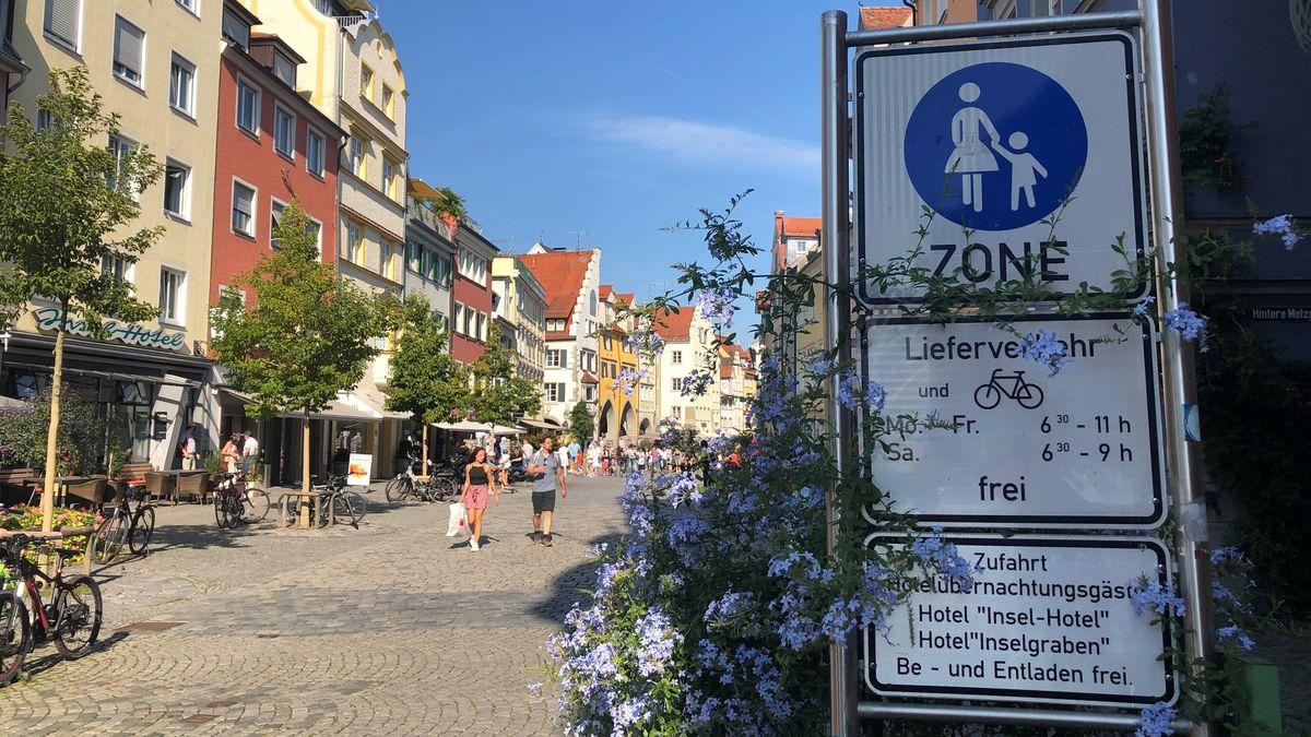 Eingang zur Fußgängerzone in Lindau