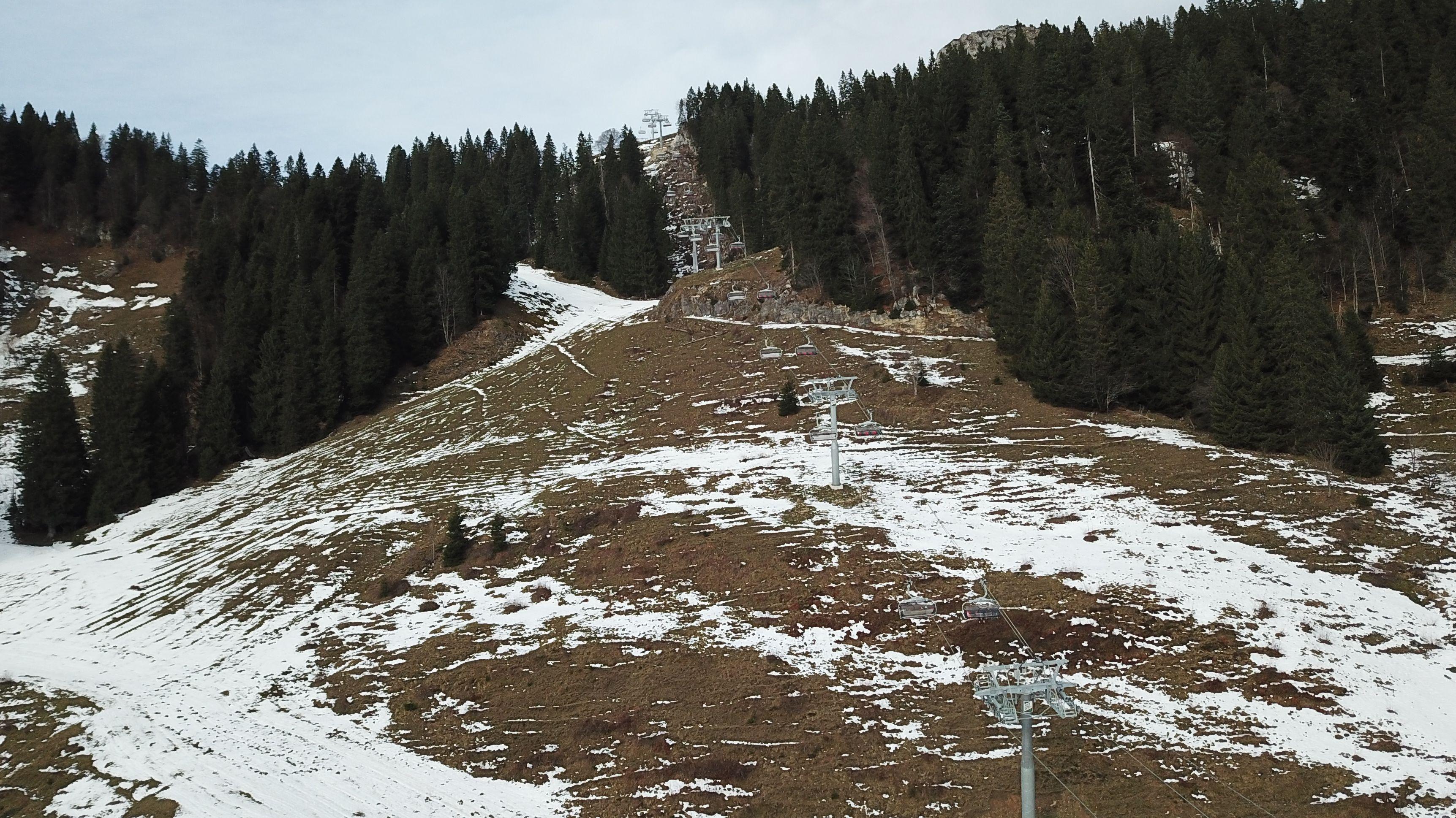 Schneemangel am Brauneck
