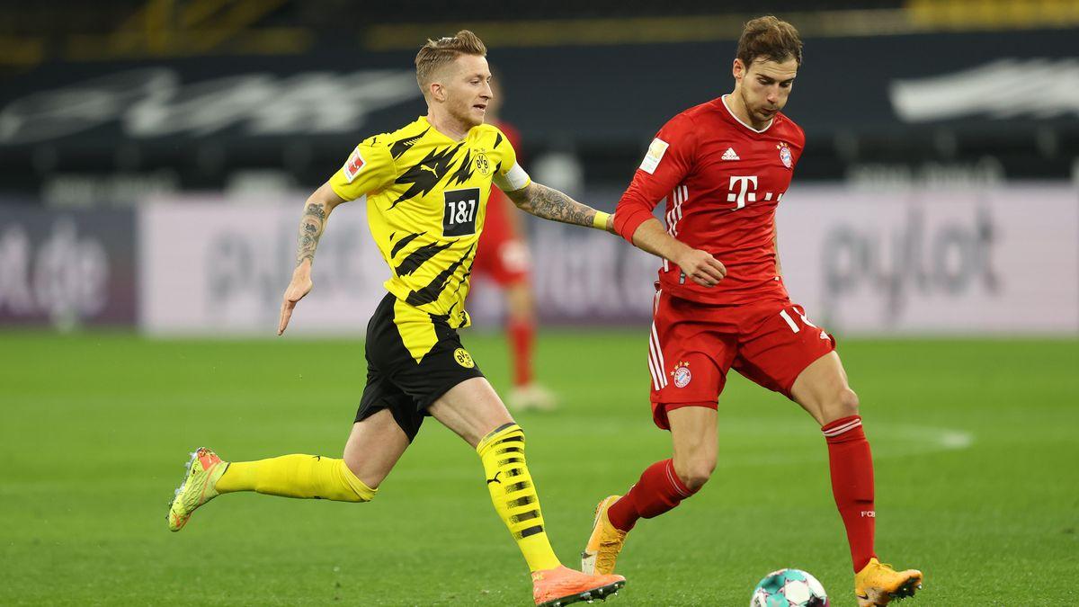 Spielszene Borussia Dortmund - FC Bayern (Hinspiel)