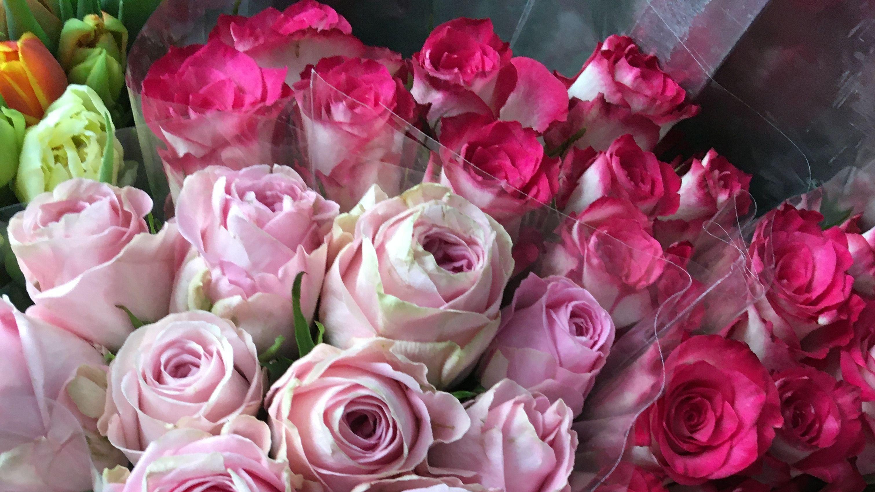 Gespendete Blumensträuße