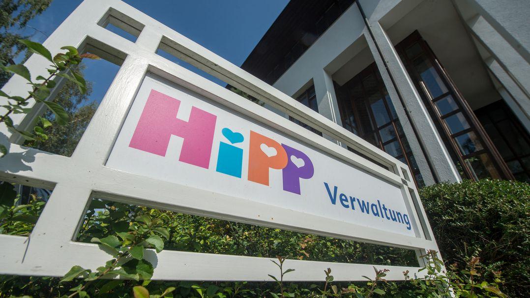 Die Firmenzentrale des Babynahrungherstellers Hipp in Pfaffenhofen.