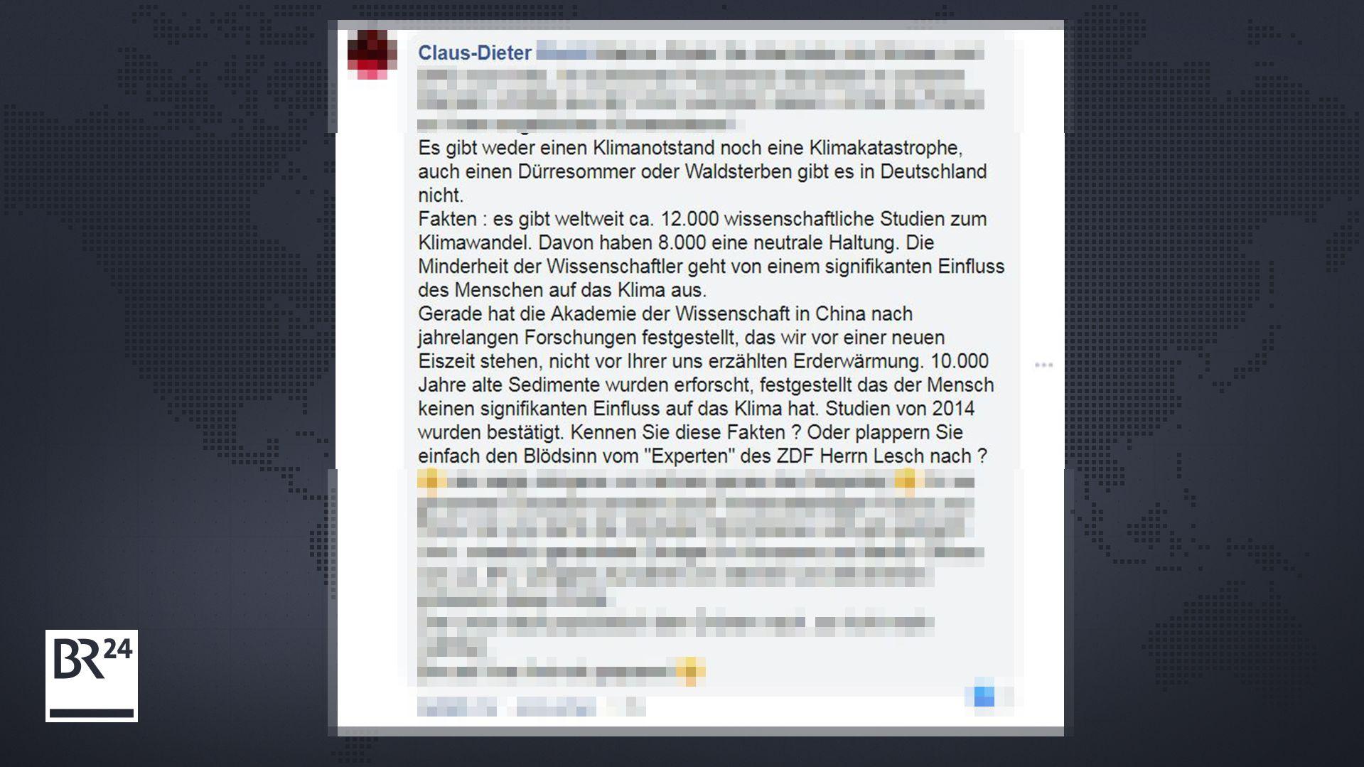 Kommentar unter einem Post von Markus Söder