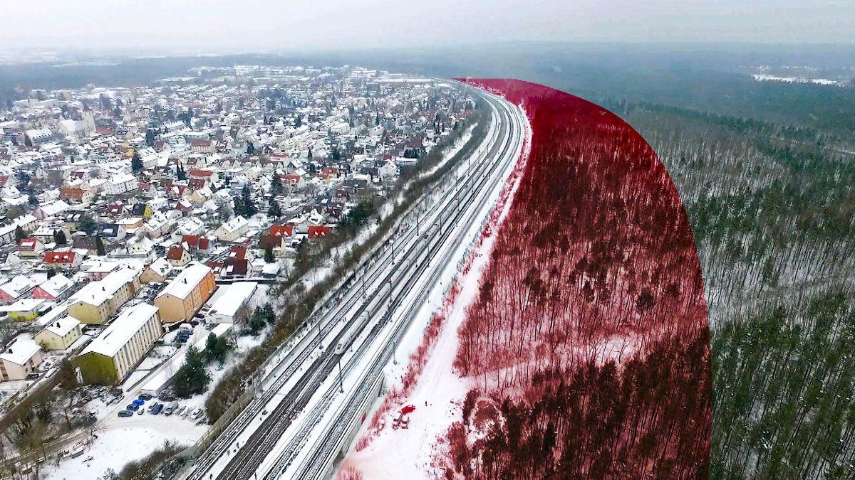 Luftbildaufnahme Ort des geplanten ICE-Werks