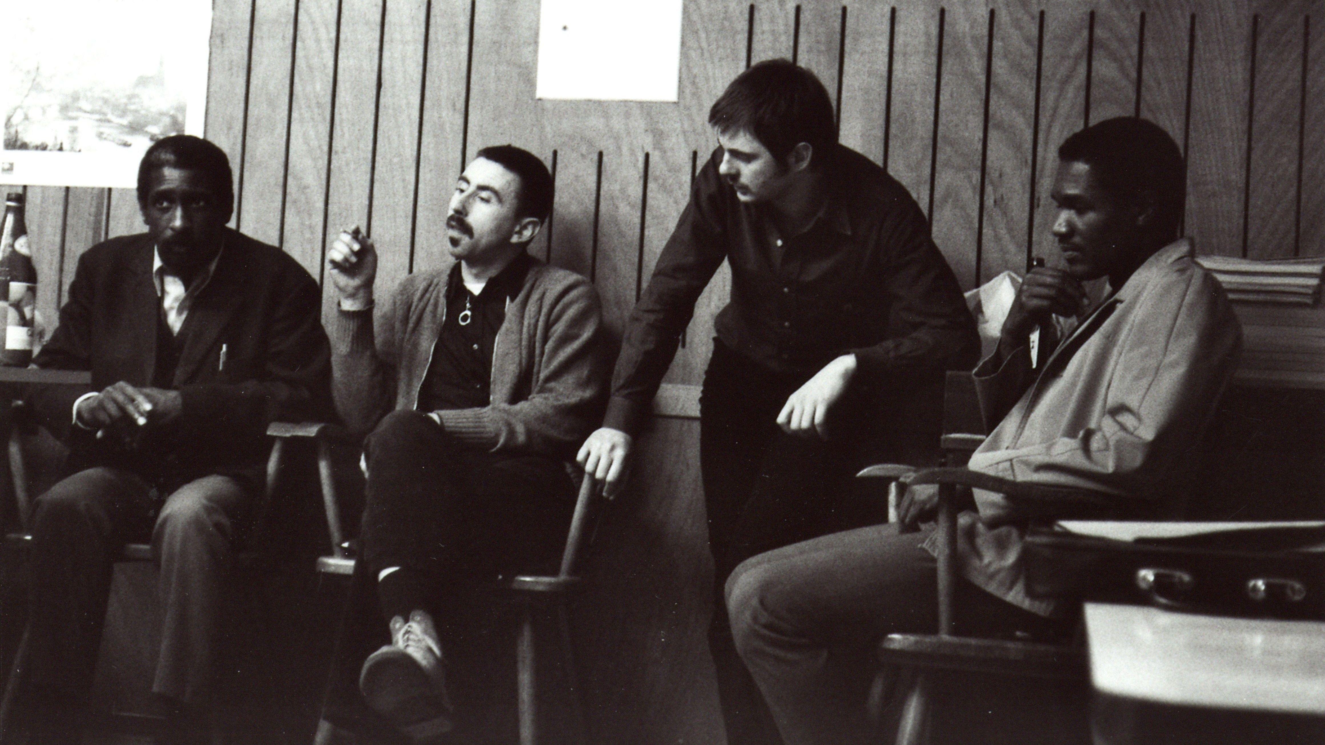 Mal Waldron, Isla Eckinger, Manfred Eicher, Clarence Becton im November 1969 im Tonstudio Bauer in Ludwigsburg