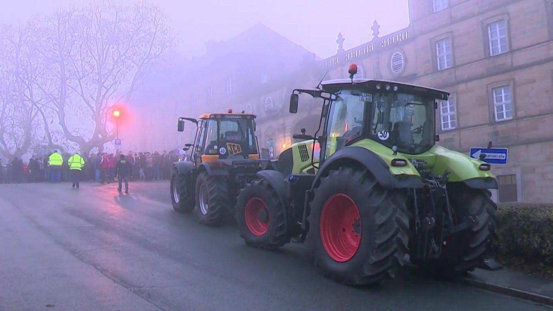 Demo der Landwirte auf Kloster Banz
