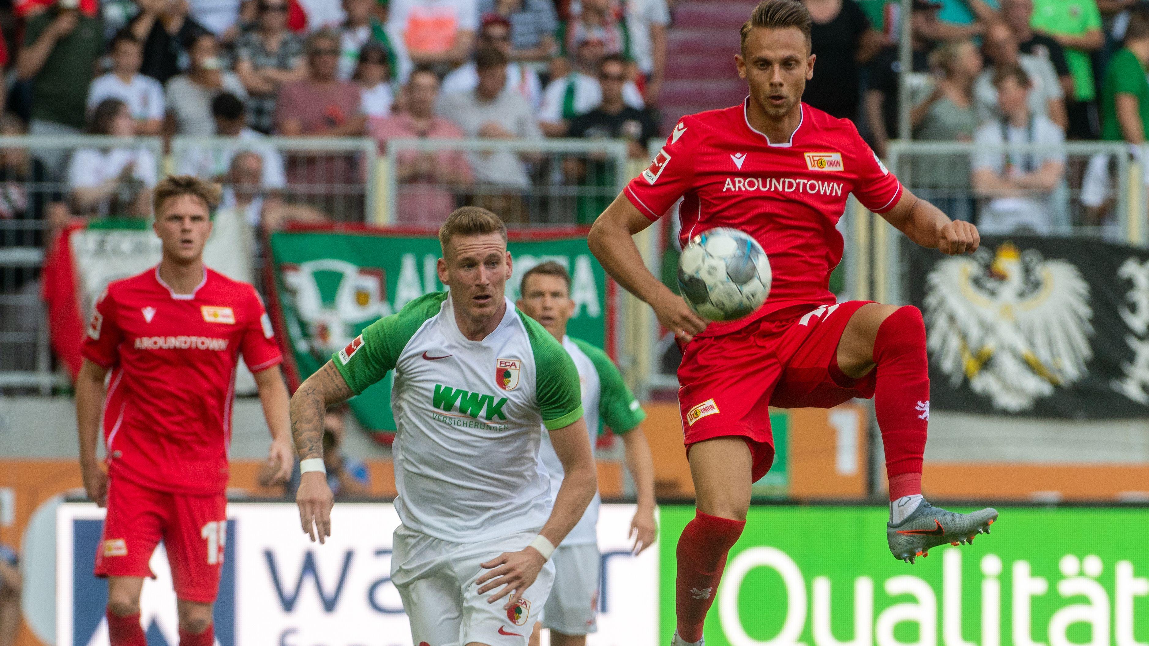 Spielszene FC Augsburg - Union Berlin