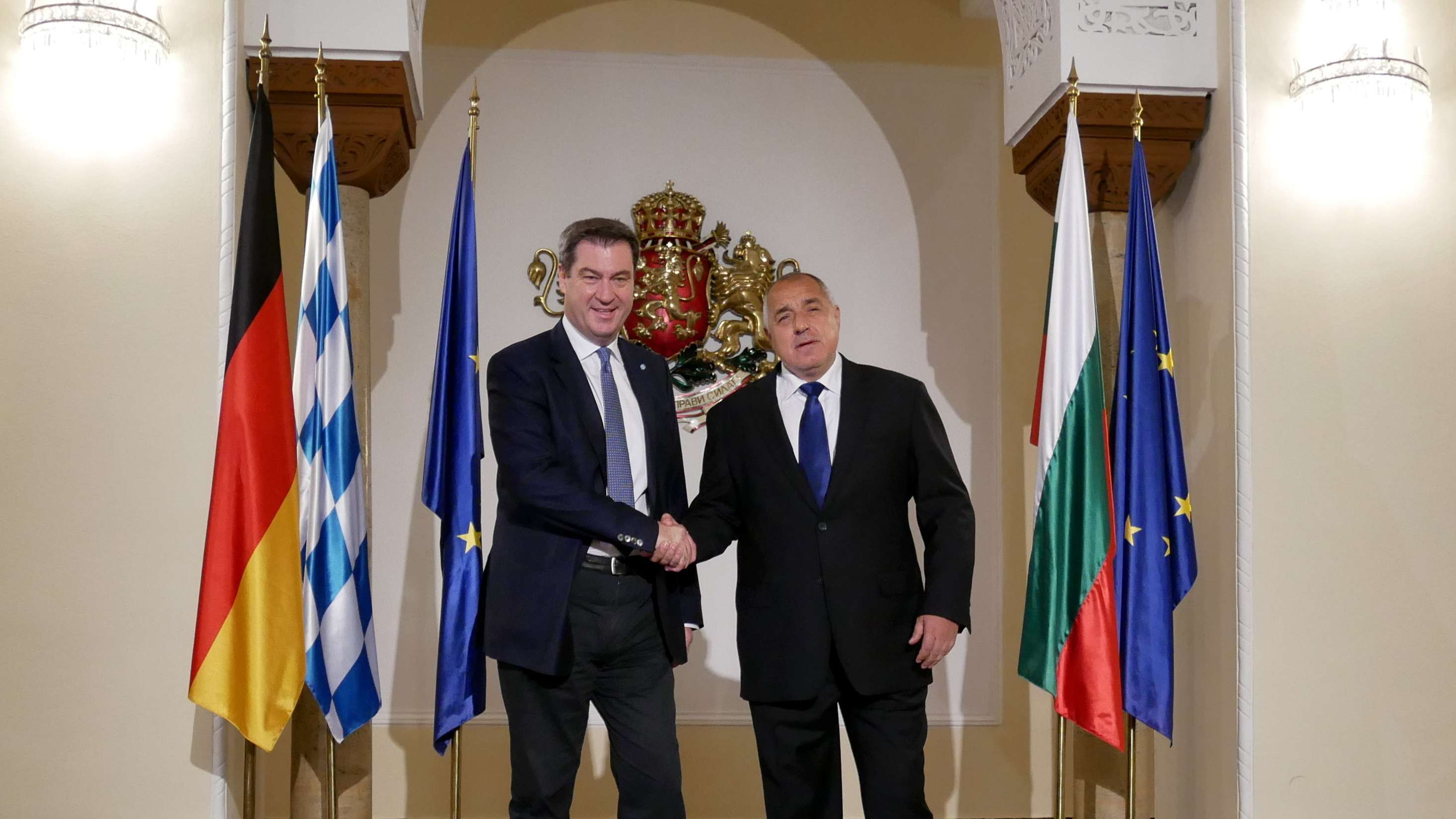 Sofia: Der CSU-Vorsitzende und bayerische Ministerpräsident Markus Söder trifft den  bulgarischen Regierungschef Boiko Borissow.