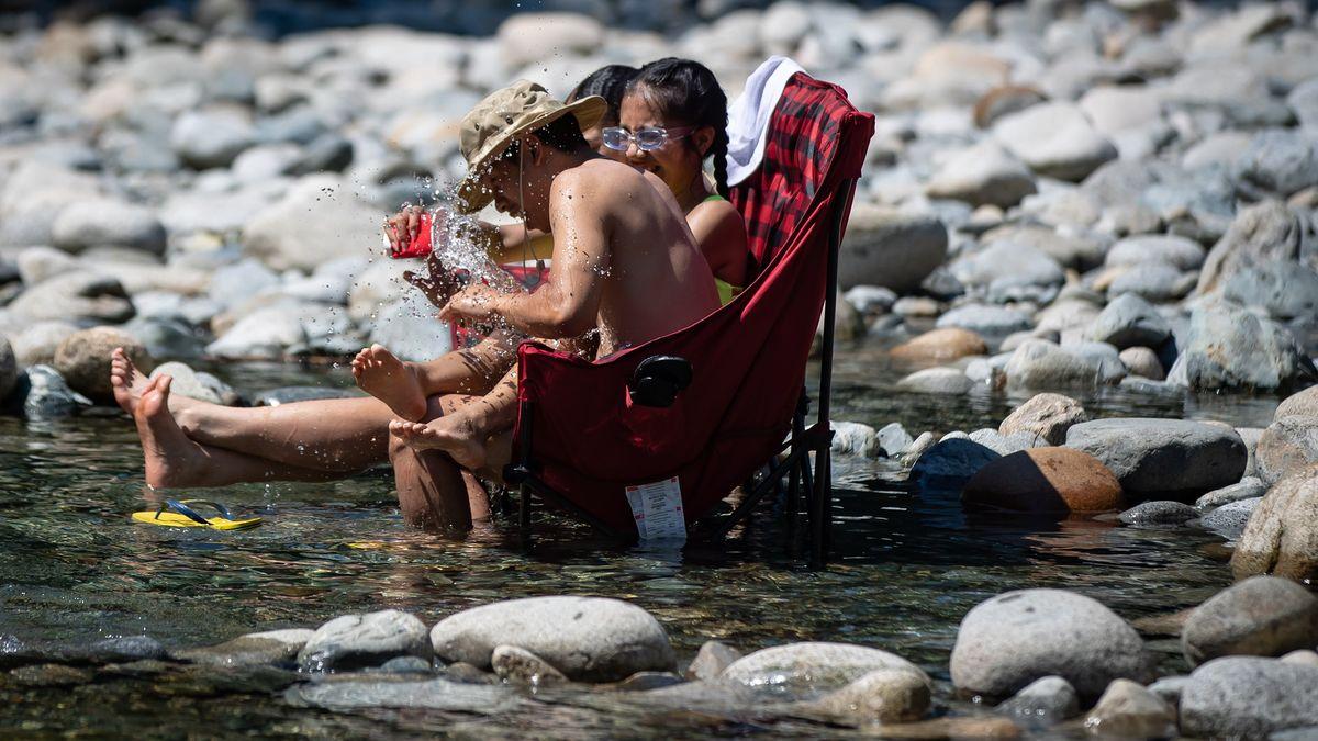 Kanadier beim Sonnenbaden