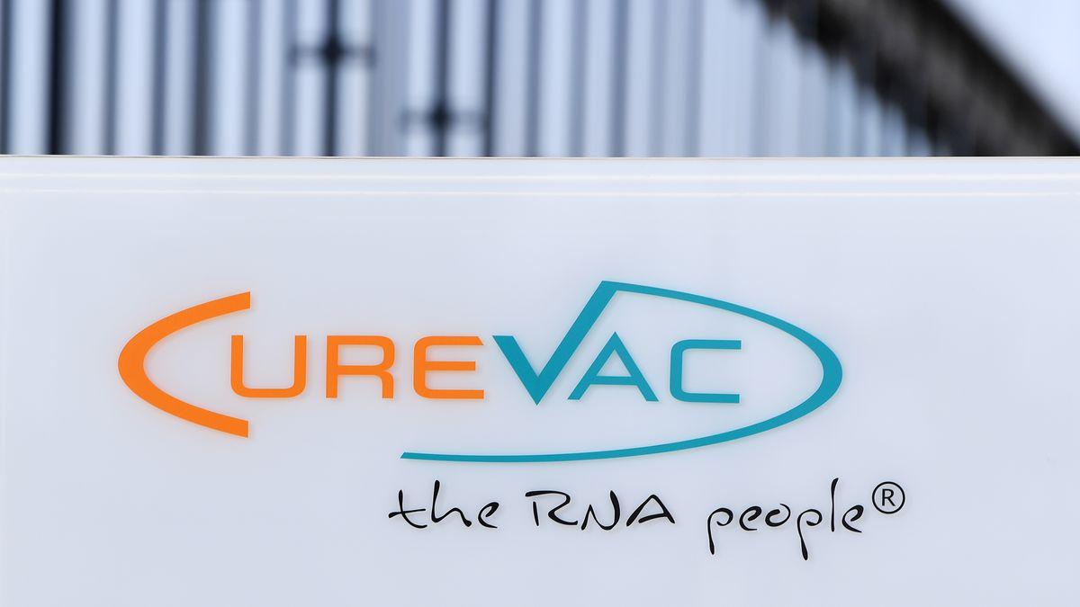 Logo des Tübinger Pharmakonzerns CureVac