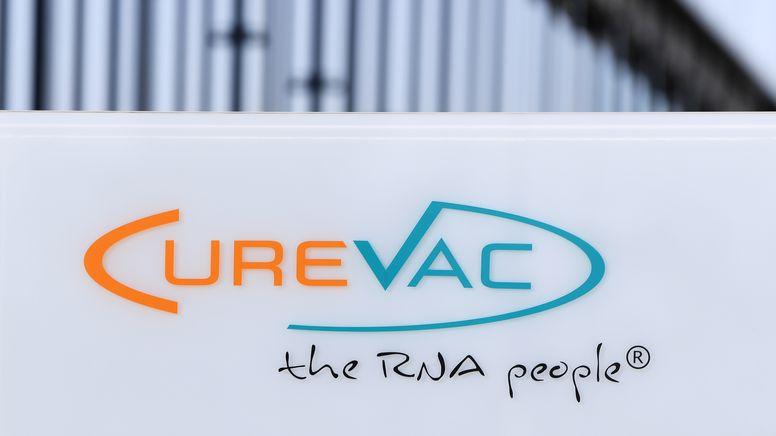 Logo des Tübinger Pharmakonzerns CureVac | Bild:picture alliance / Pressebildagentur ULMER | ULMER