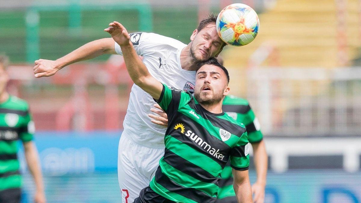 Spielszene Münster gegen FC Ingolstadt 04