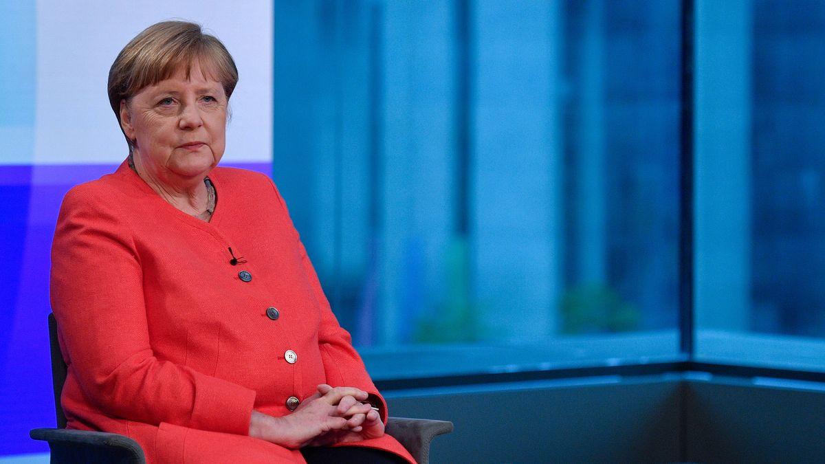 Angela Merkel imARD-Hauptstadtstudio