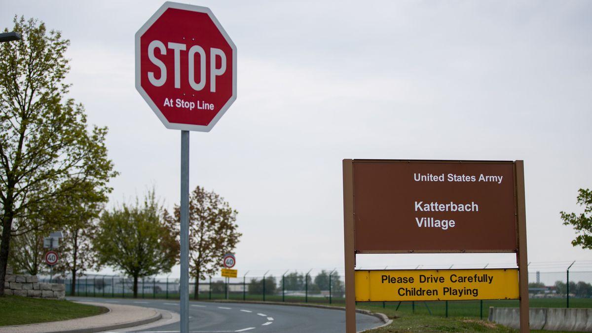Blick auf den US-Helikopterstützpunkt in Ansbach-Katterbach