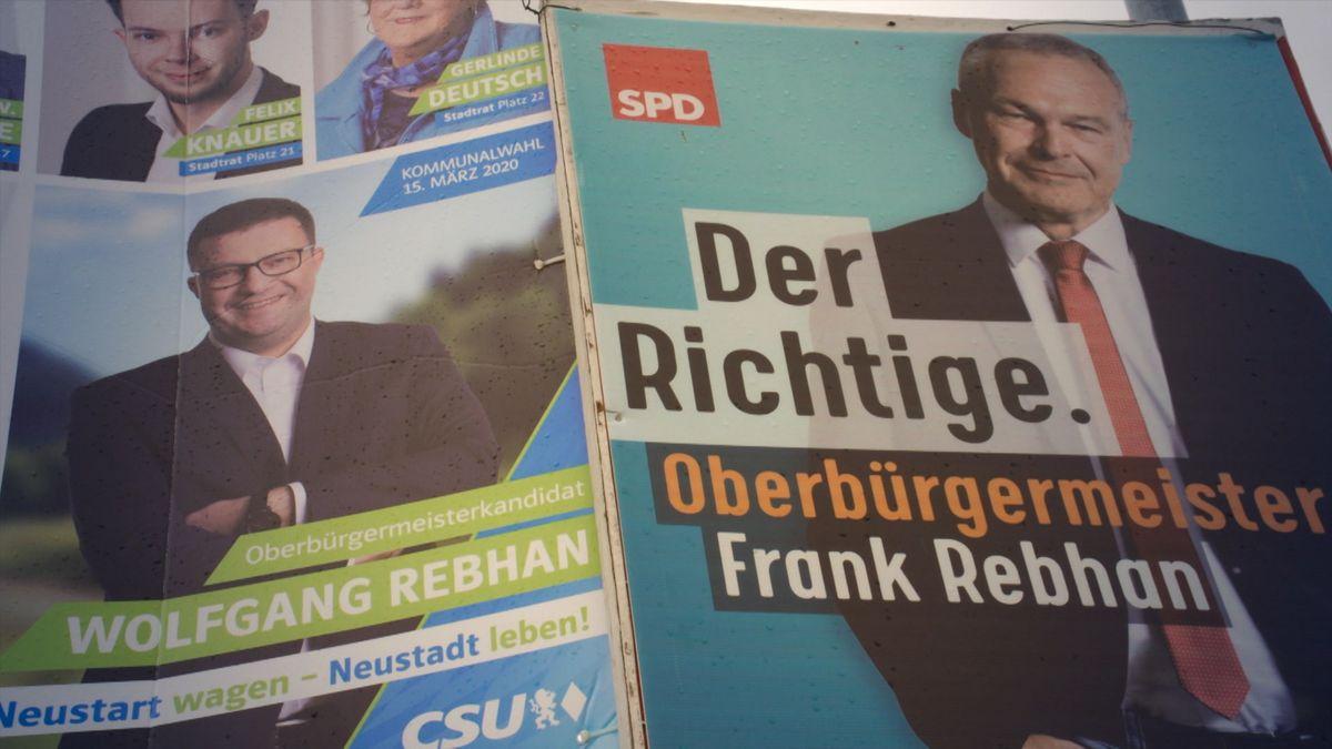 Coburger Wahlplakate der Kontrahenten.