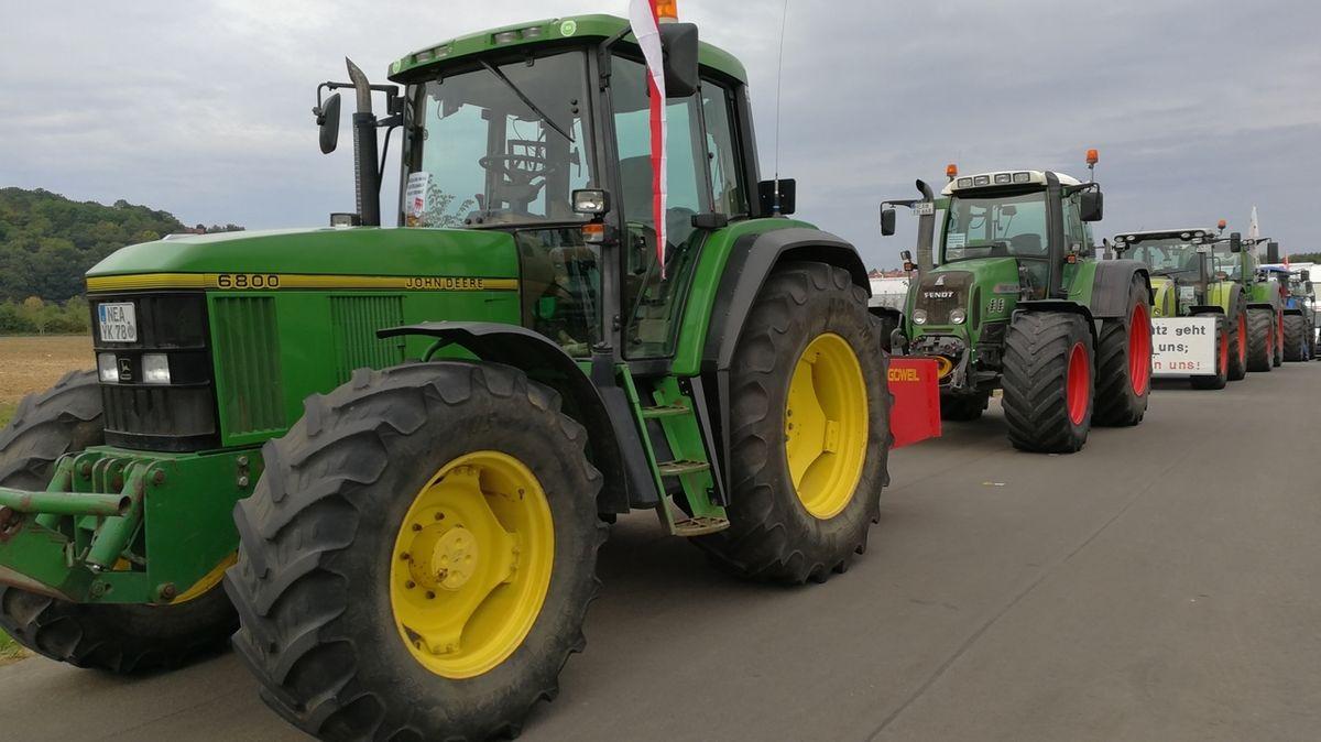 Unterfränkische Landwirte bei Agrar-Demo in Koblenz