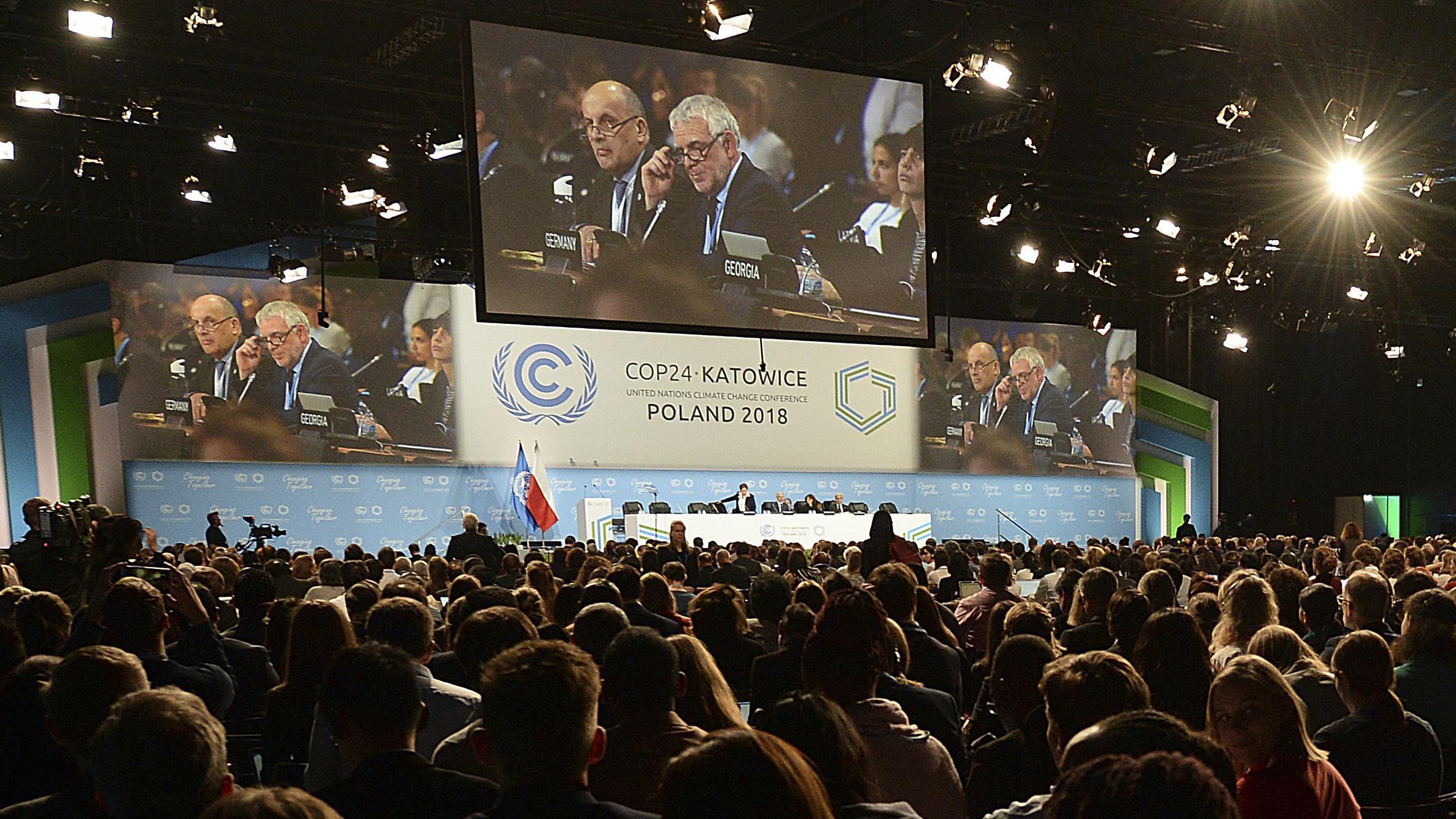 Der Verhandlungssaal der Klimakonferenz in Kattowitz