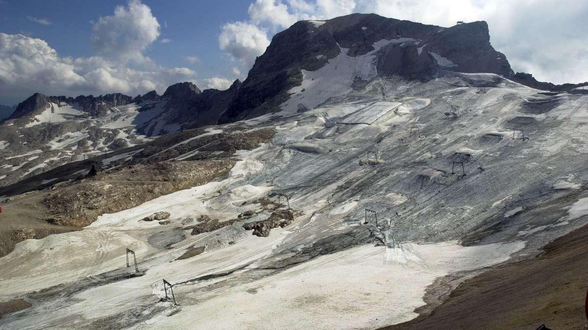 Reste des Zugspitzgletschers