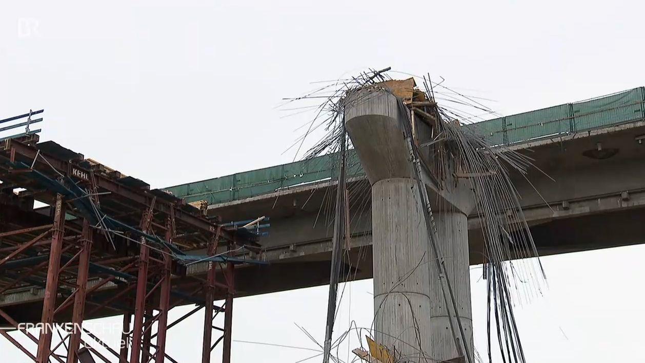 Eingestürzter Neubau der Schraudenbachbrücke