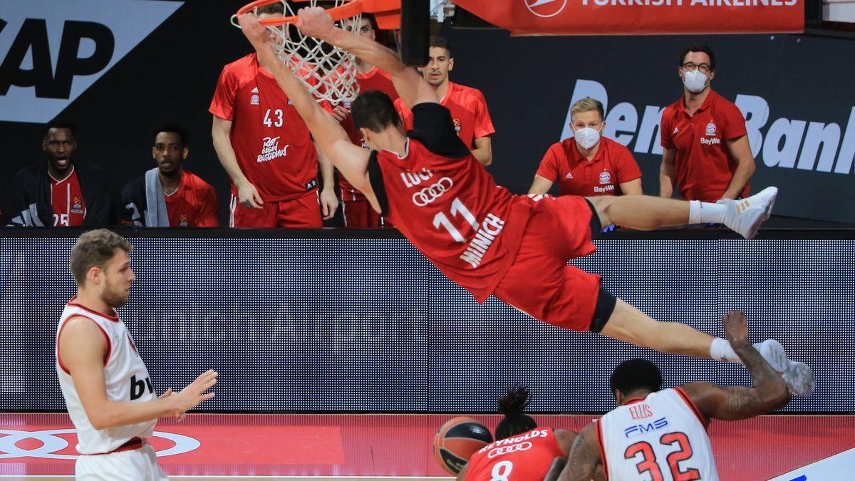 Spielszene FC Bayern Basketball - Olympiakos Piräus