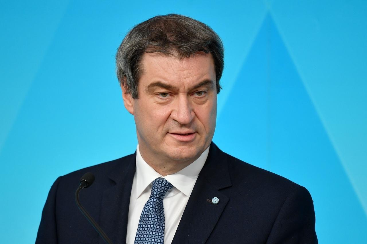 Markus Söder (Ministerpraesident Bayern und CSU Vorsitzender), bei einer Pressekonferenz der Bayerischen Staatsregierung zum Thema Coronavirus in Bayern am 05.05.2020
