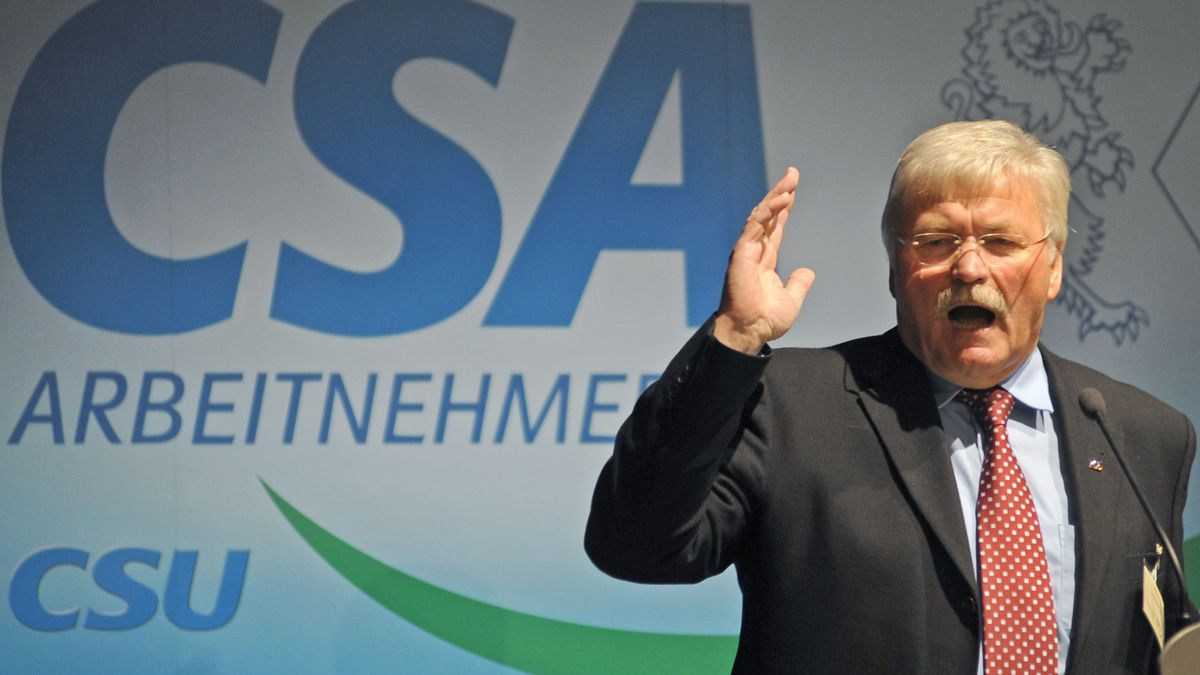 Der niederbayerische Landtagsabgeordnete Konrad Kobler bei  der Landesversammlung der Arbeitnehmer-Union CSA in Deggendorf