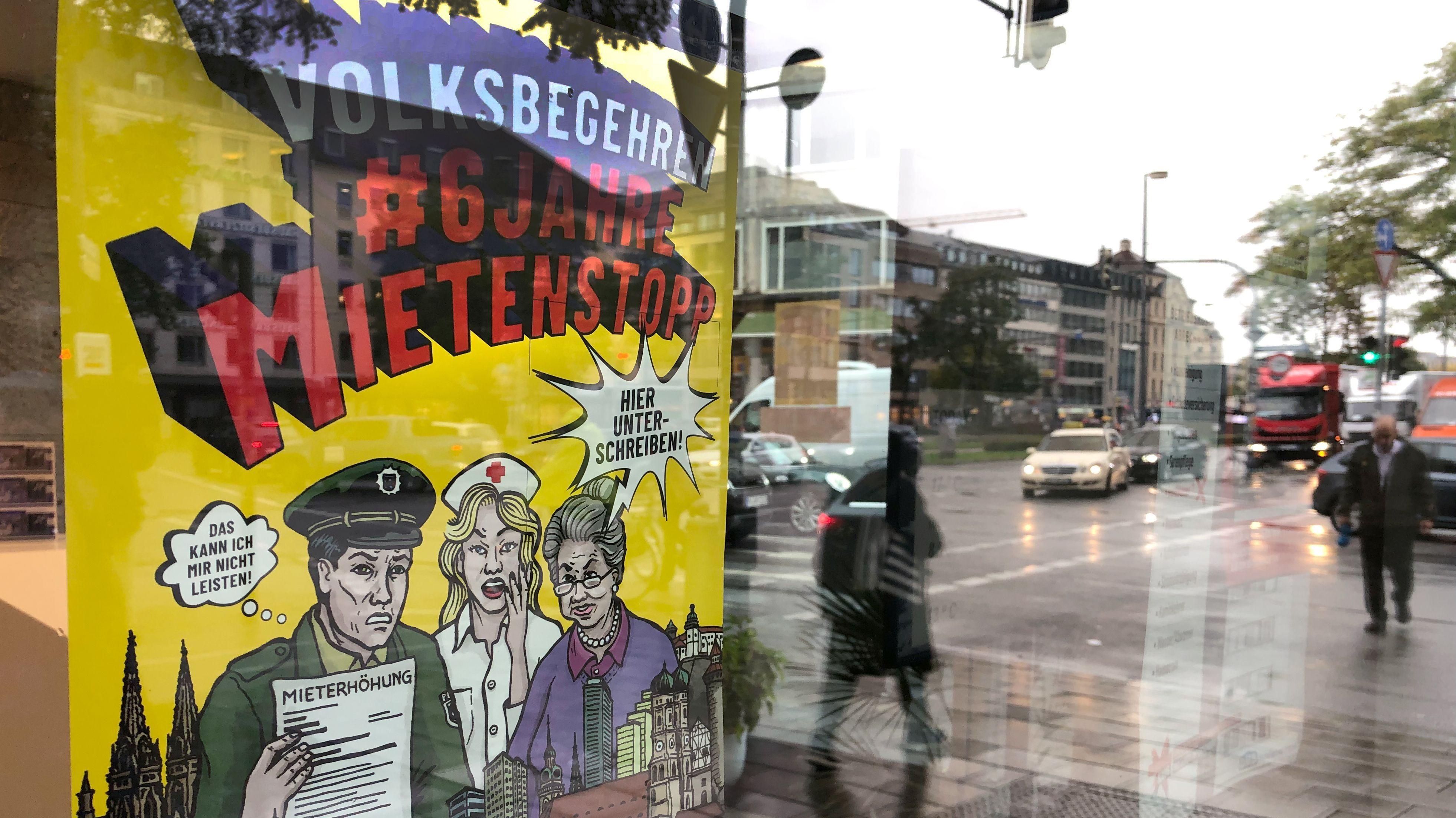 """Die Initiatoren des Volksbegehrens """"6 Jahre Mietenstopp"""" sammeln ab heute Unterschriften."""