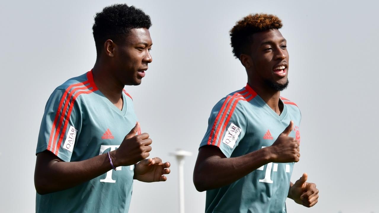 David Alaba und Kingsley Coman beim Training (Archivbild)