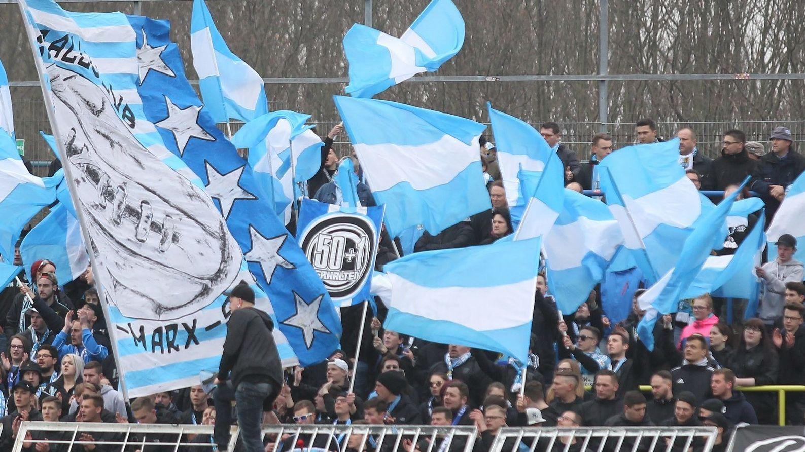 Die Fanszene des Chemnitzer FC (Symbolbild)