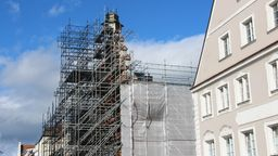 Wiederaufbau Rathaus Straubing nach dem Brand   Bild:BR/Marcel Kehrer